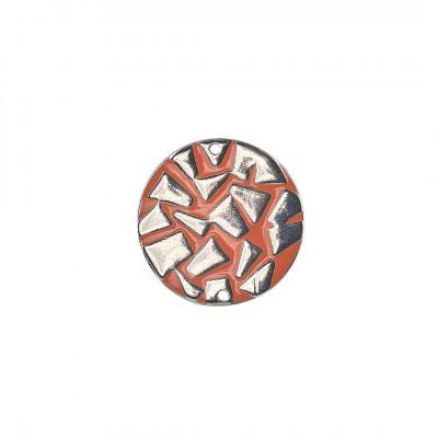 Enamel round disc