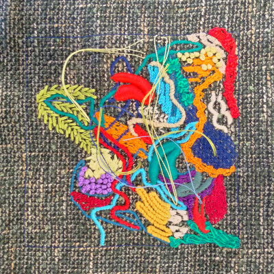 Industrial Embroidery with handmade details