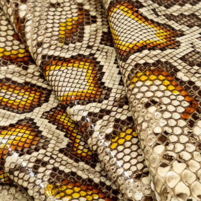 MOLURO PYTHON WITH NATURAL MARKINGS FRONT CUT SHINY HAND PAINTED