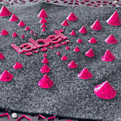 Studs print in glitter KPU