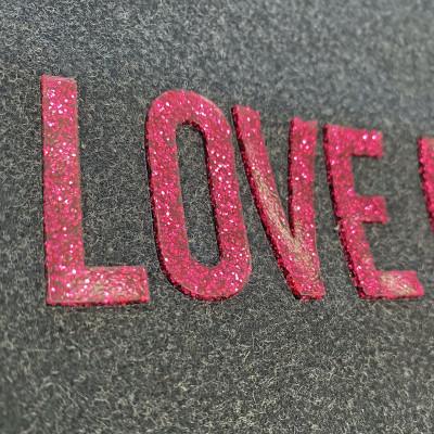 KPU glitter lettering