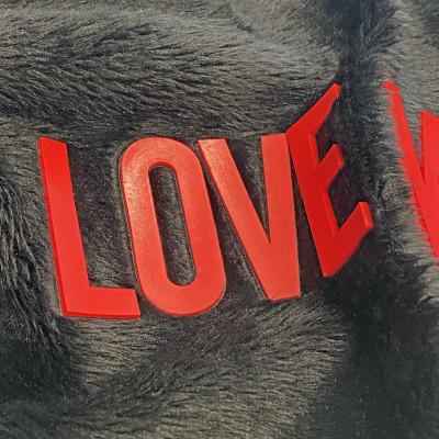 KPU written on synthetic fur