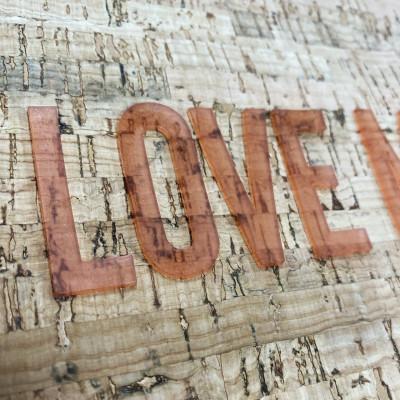 KPU print on cork material