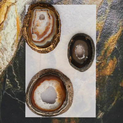 natural agate collection with frame