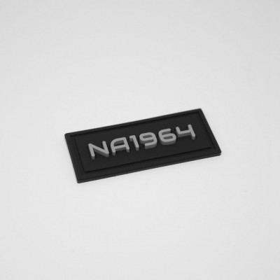 Micro-injection printed rubber labels