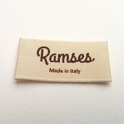 Labels printed on cotton and polycotton