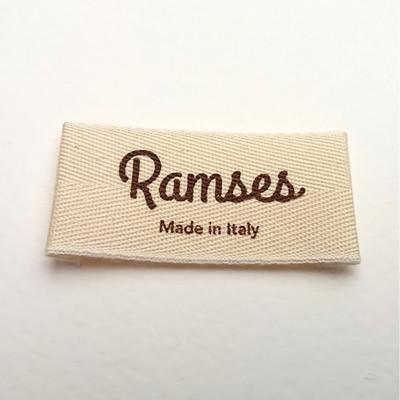 Etichette stampate su cotone e policotone