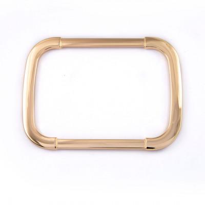 Manico rettangolare oro a telaio protetto W1410022/106
