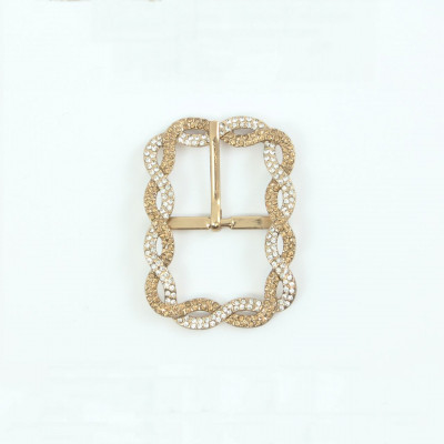 Jewel buckle with rhinestones