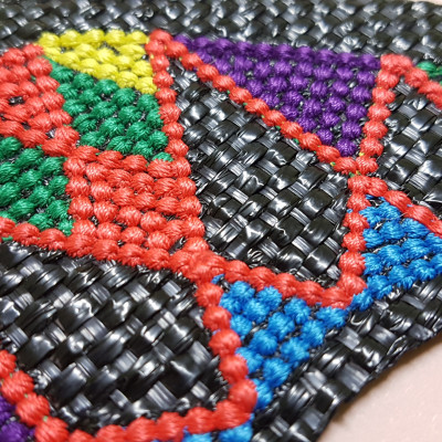 Asterisk stitch embroidery