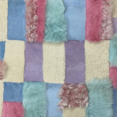 SHEARLING PATCHWORK PLATE