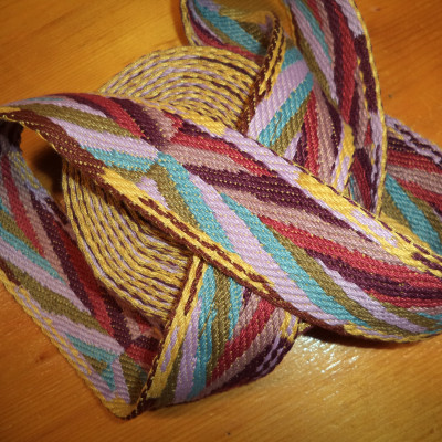 JF36/50 mm Jaquard webbing with etnic multicolor effect