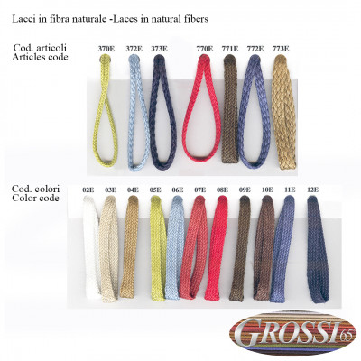 Laces in natural fibers