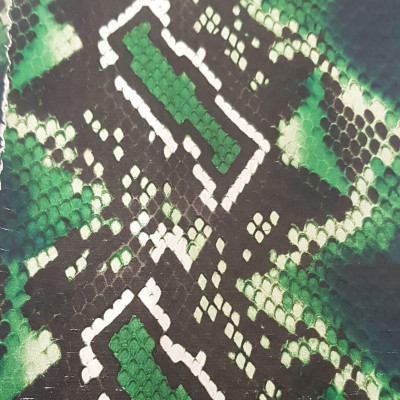 ELAPHE PYTHON DIGITAL PRINT GREEN CF 3360