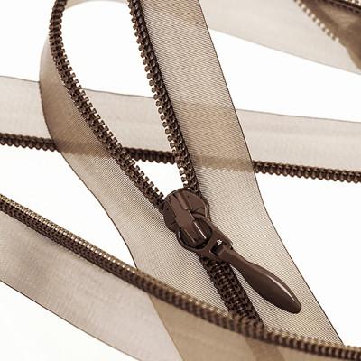 Super lightweight translucent coil zipper