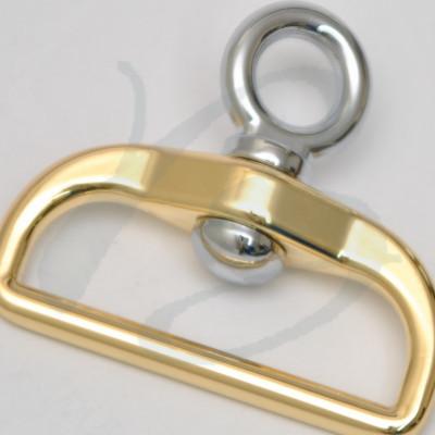 """Attacco girevole con anello a \\""""D\\"""" 40 mm"""